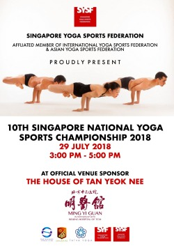 SINGAPORE YOGA SPORTS CHAMPIONSHIP 2018